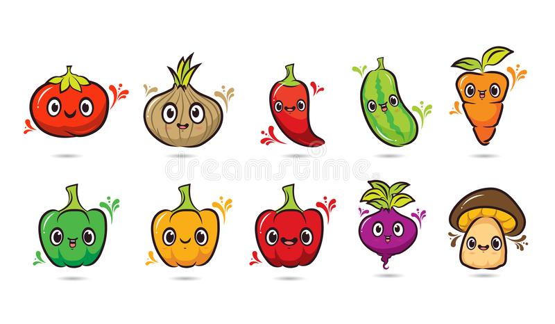 10棵菜设计传染媒介组装 库存例证