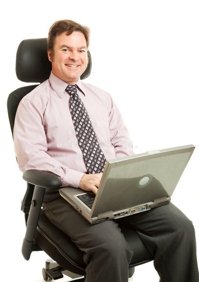 椅子人体工程的工作 免版税图库摄影
