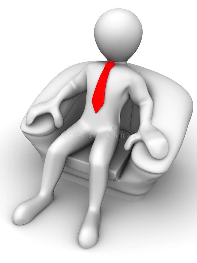 椅子人安装 向量例证