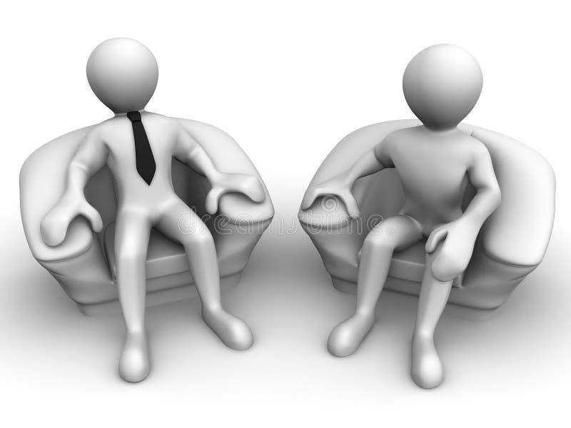 椅子人补充供以座位二 皇族释放例证