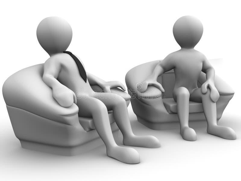 椅子人补充供以座位二 库存例证