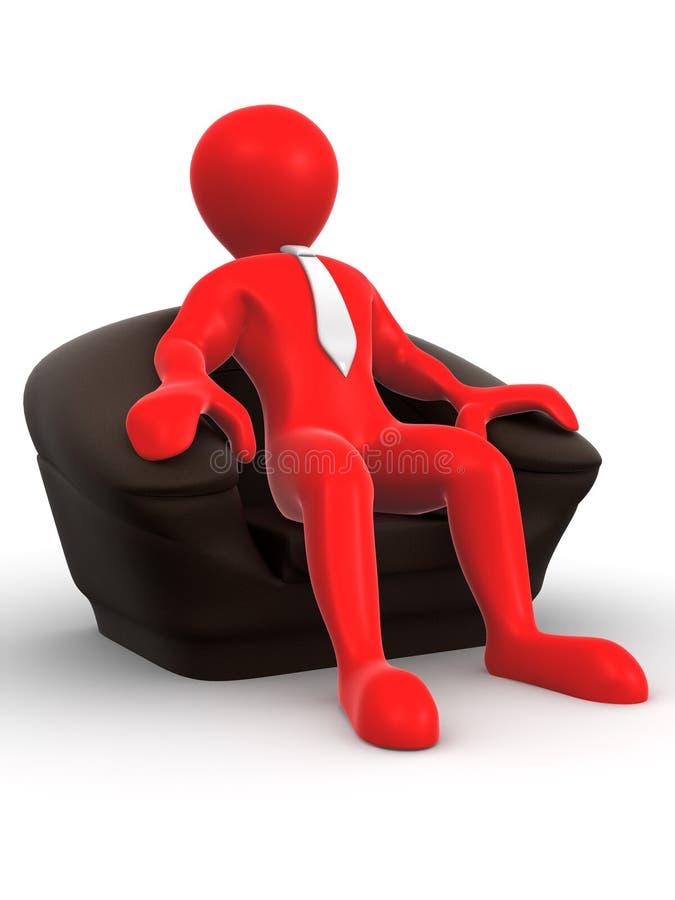 椅子人补充供以座位二 向量例证