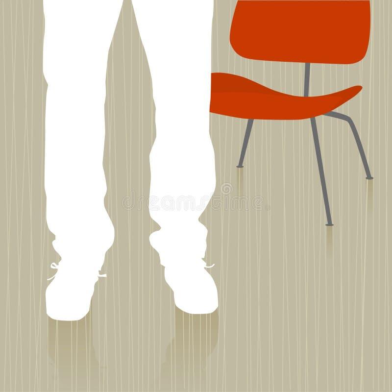 椅子人身分 向量例证
