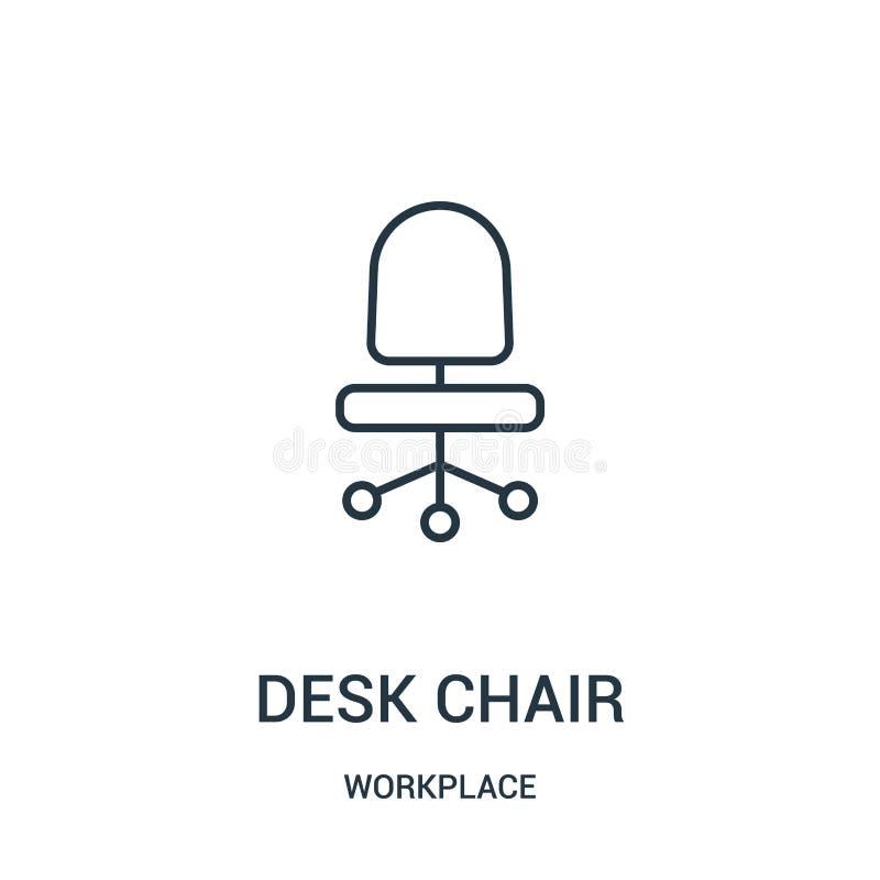 椅子从工作场所汇集的象传染媒介 稀薄的线椅子概述象传染媒介例证 皇族释放例证