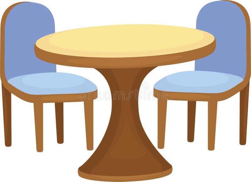 椅子例证表 向量例证