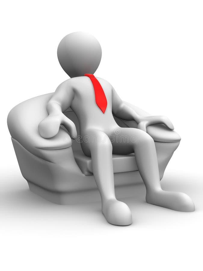 椅子供以座位的人补充 库存例证