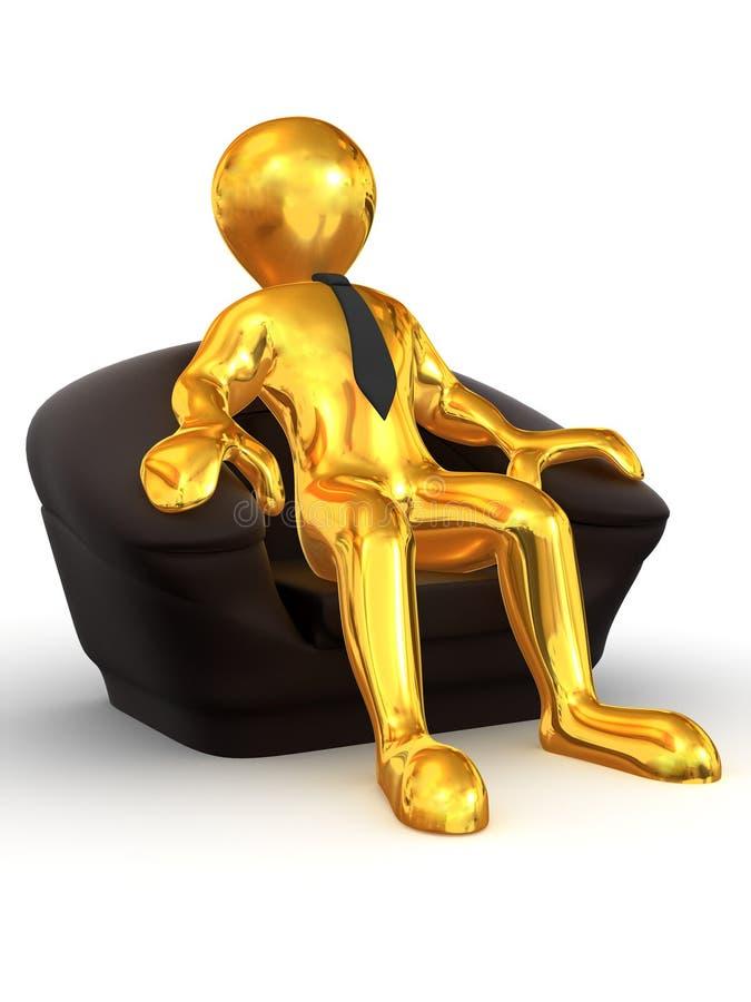 椅子供以座位的人补充 皇族释放例证