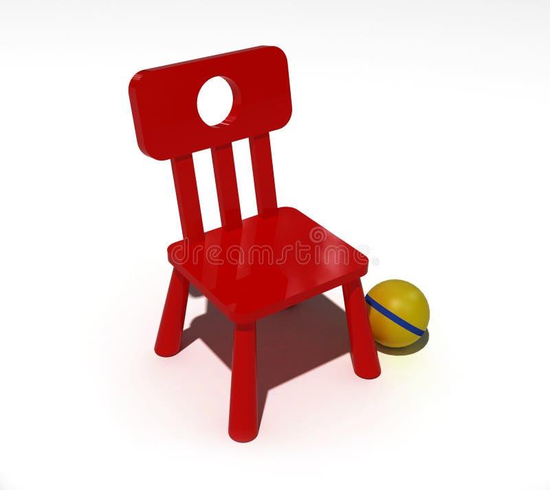 椅子儿童红色 皇族释放例证