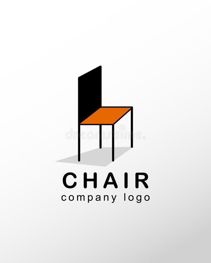 椅子公司商标 免版税库存图片
