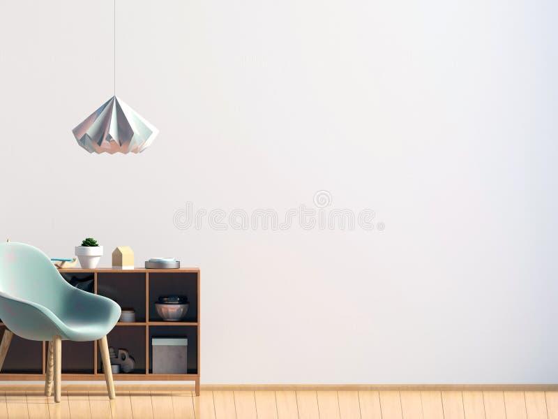椅子内部现代 墙壁嘲笑 皇族释放例证
