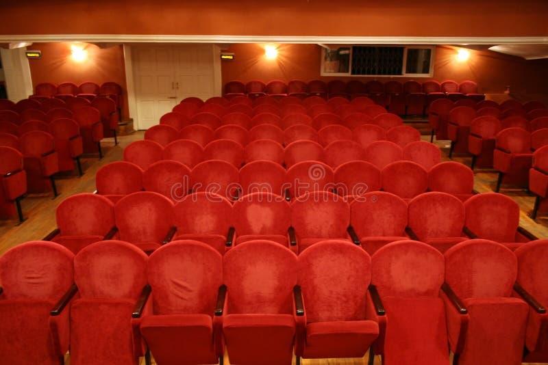 椅子剧院 库存照片