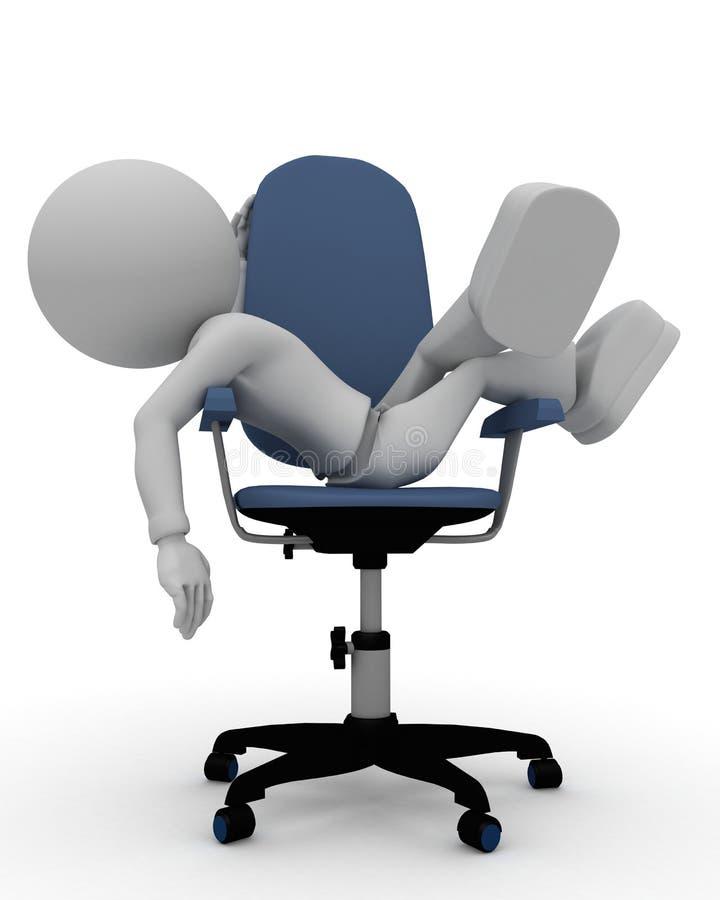 椅子办公室休息 库存例证