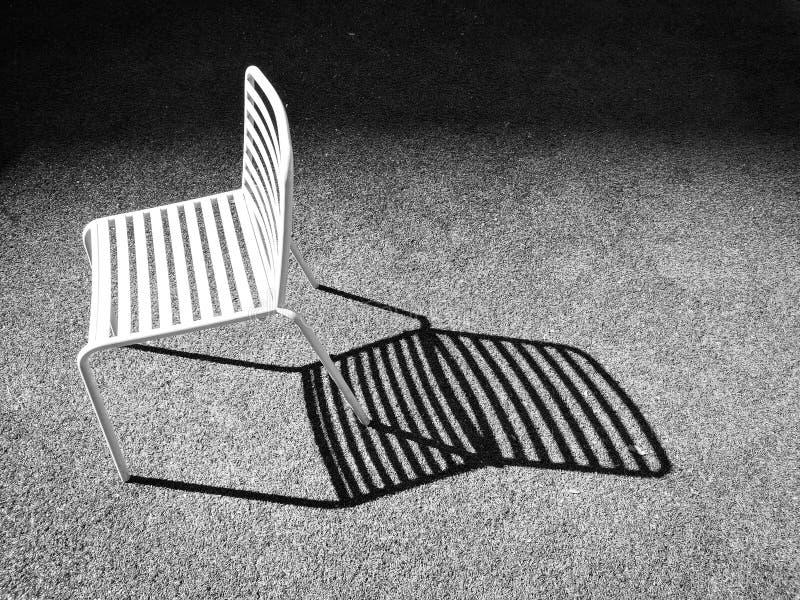 椅子和阴影 图库摄影