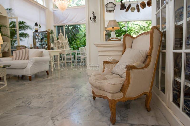 椅子在客厅 库存照片