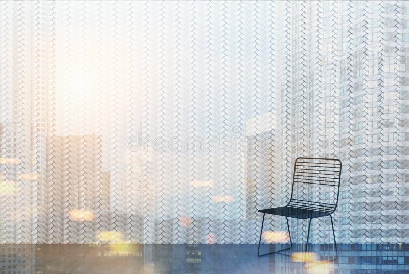 椅子在被定调子的一间空的屋子 向量例证