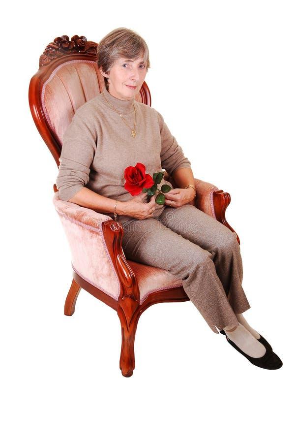 椅子夫人开会 库存照片