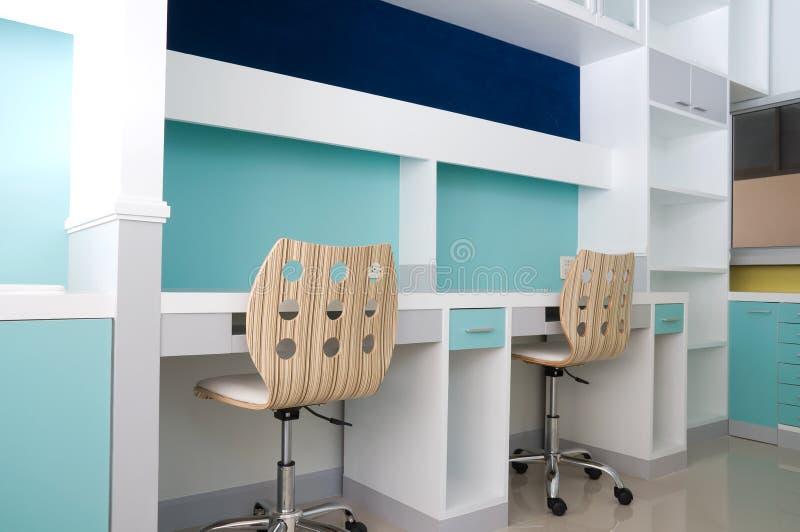 椅子工作场所 免版税库存图片