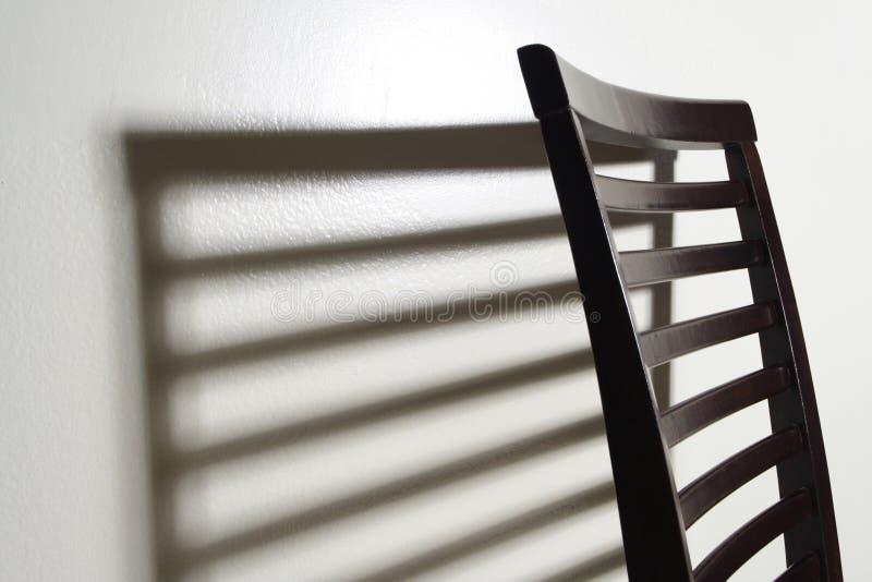 椅子影子 库存图片