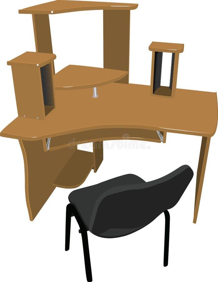 椅子您计算机的表 图库摄影