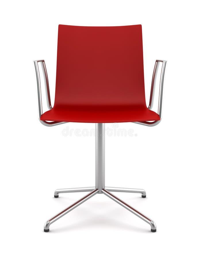 椅子查出的办公室红色白色 向量例证