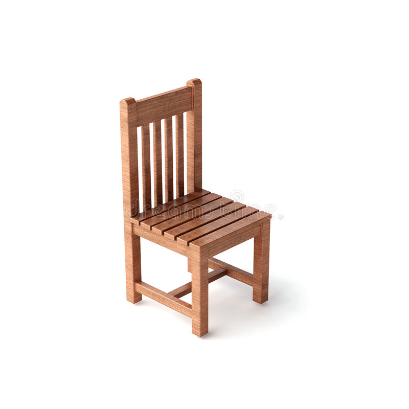 椅子查出的木头 向量例证