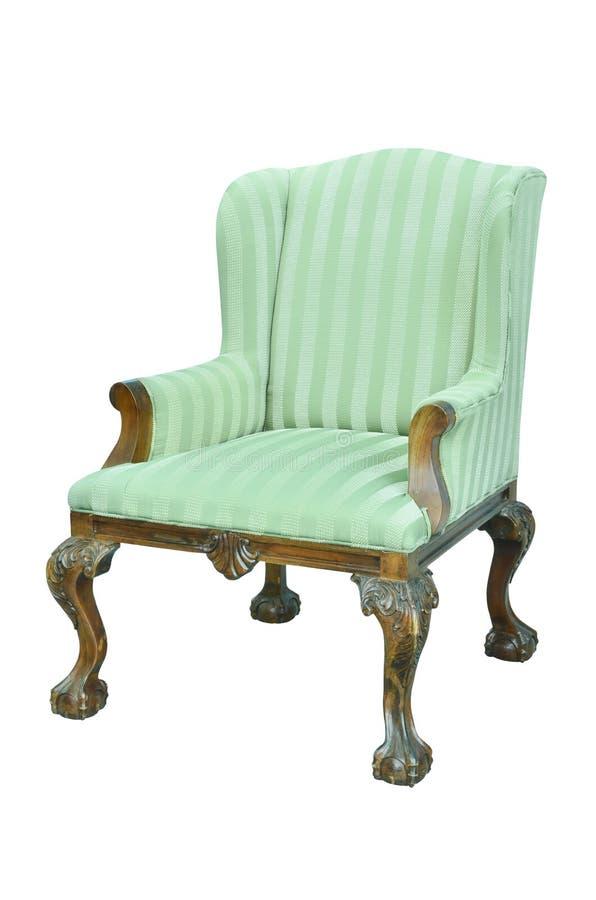 椅子查出的葡萄酒白色 免版税库存图片