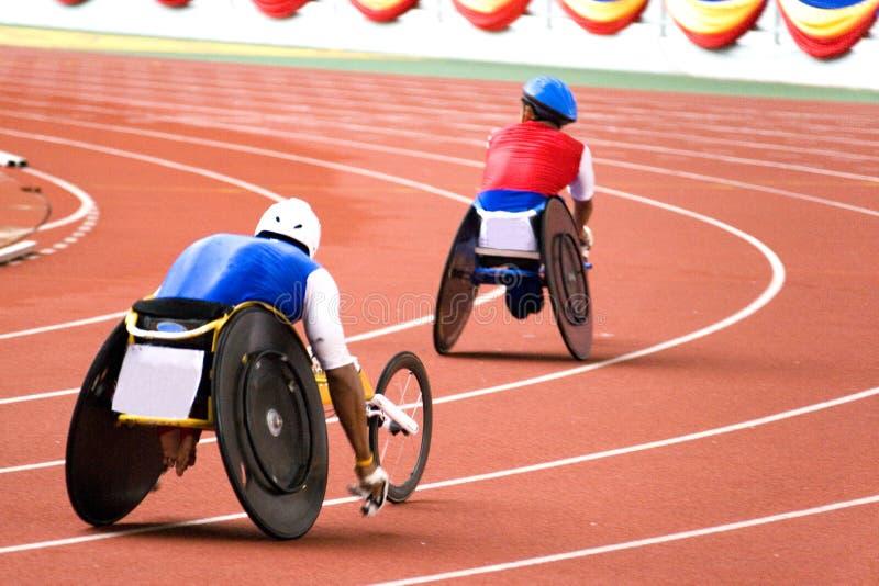 椅子残疾人赛跑轮子 库存照片