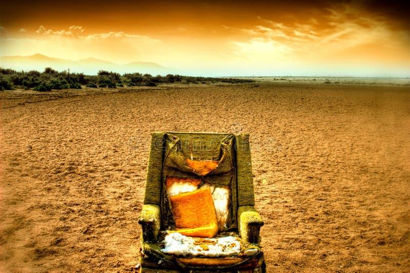 椅子沙漠休息室 免版税图库摄影