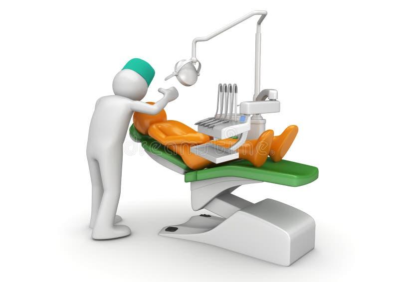 椅子牙齿牙科医生患者 皇族释放例证