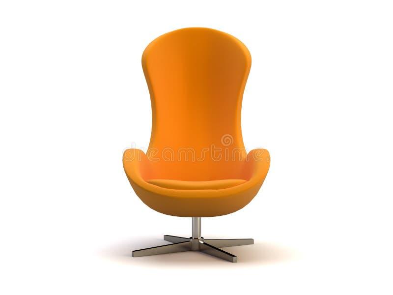 椅子现代桔子 向量例证