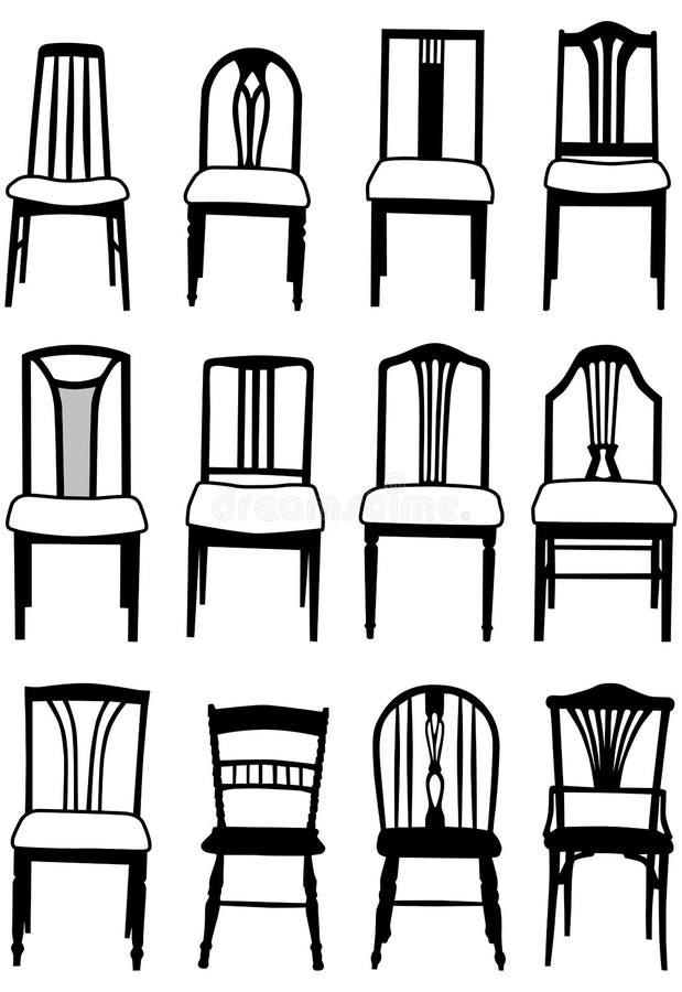 椅子用餐 皇族释放例证
