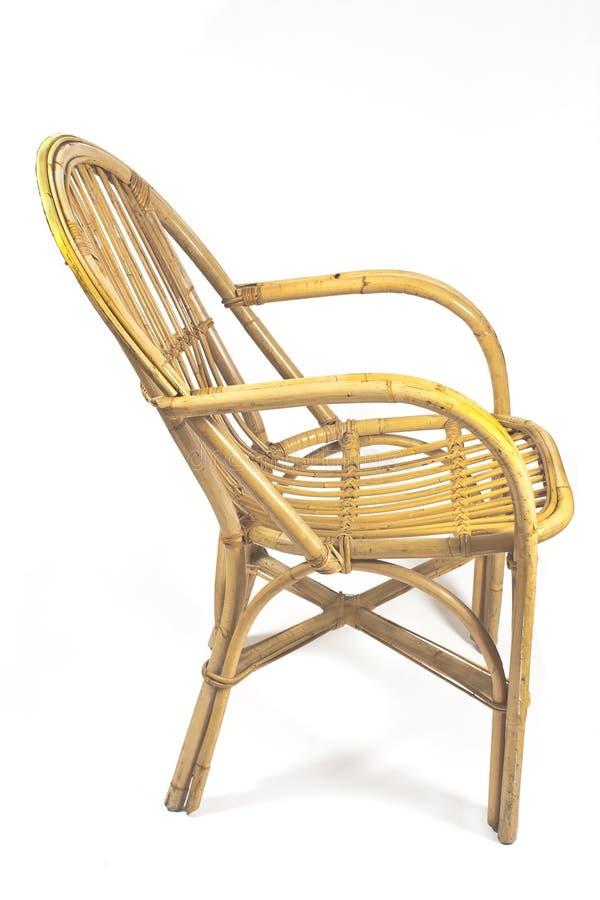 椅子由藤条制成 库存图片