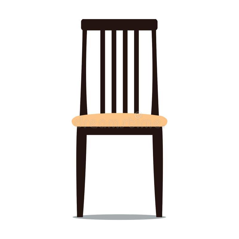 椅子的传染媒介例证与后面架靠背的 皇族释放例证