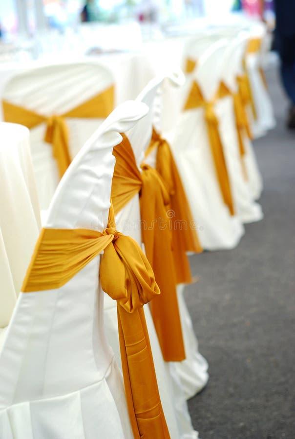 椅子盖子婚礼 免版税图库摄影