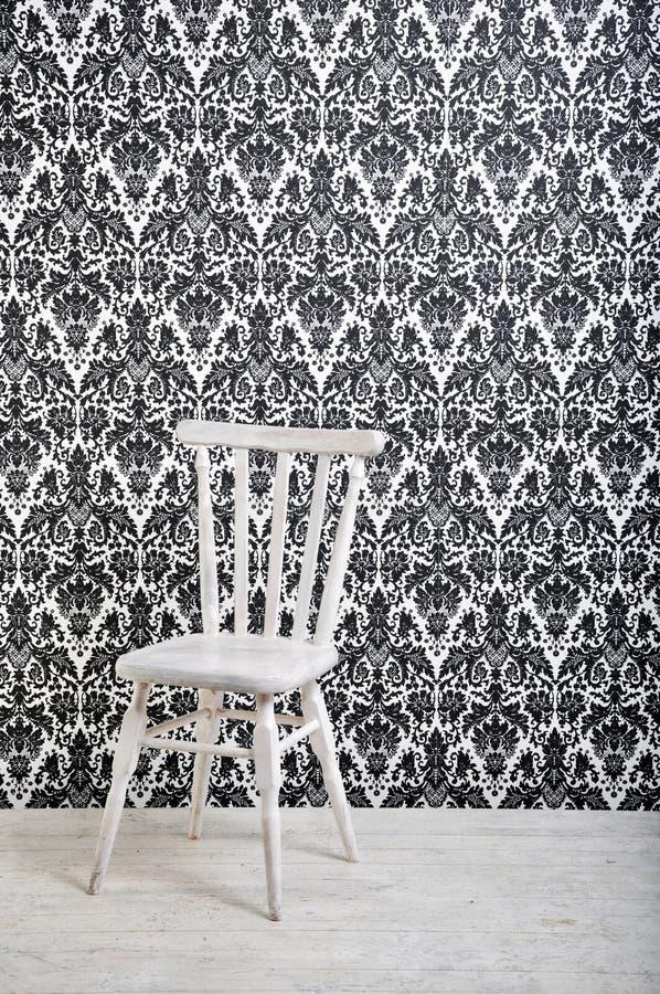 椅子空白木 免版税库存图片