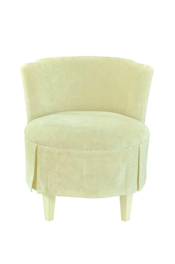 椅子织品查出的白色 免版税库存图片