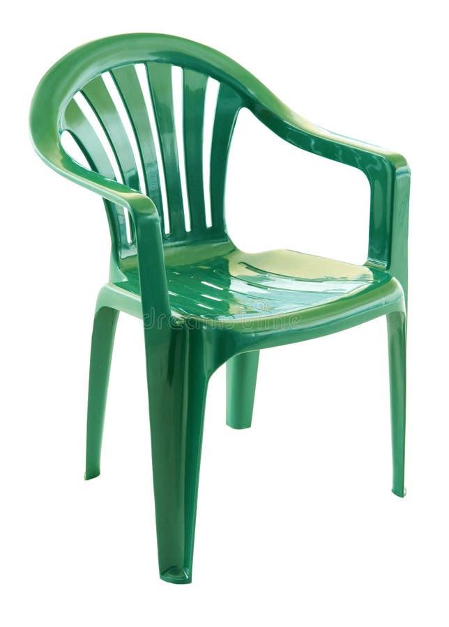 椅子绿色塑料 库存图片