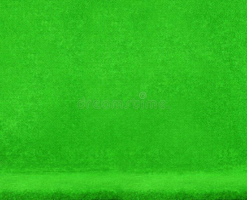 椅子绿色纹理天鹅绒 免版税图库摄影