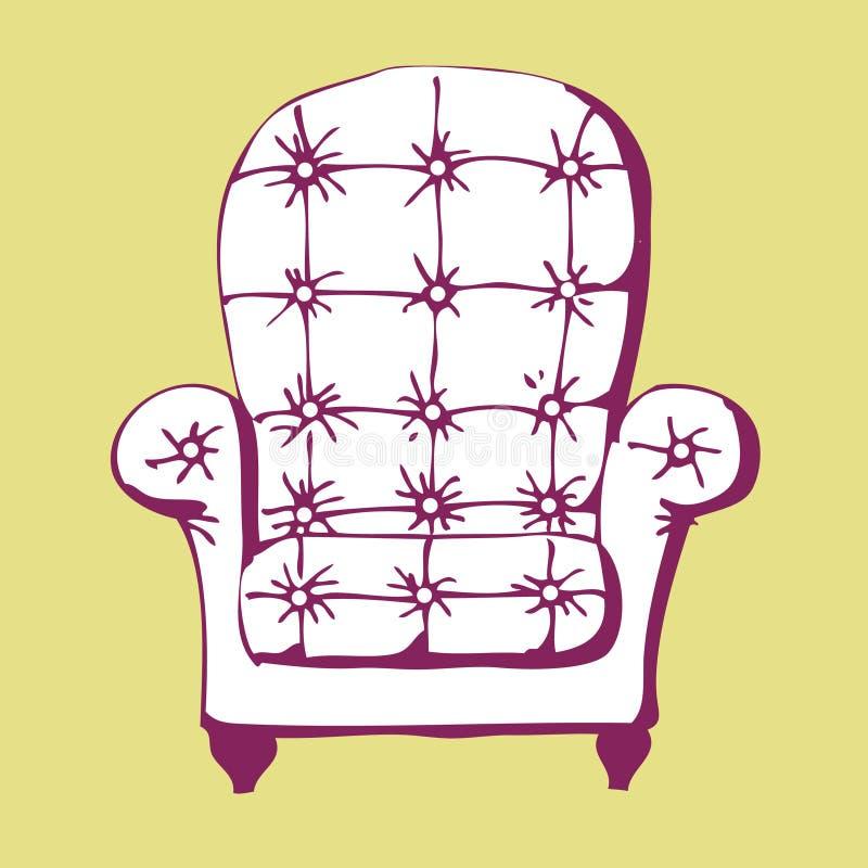 椅子葡萄酒 库存例证