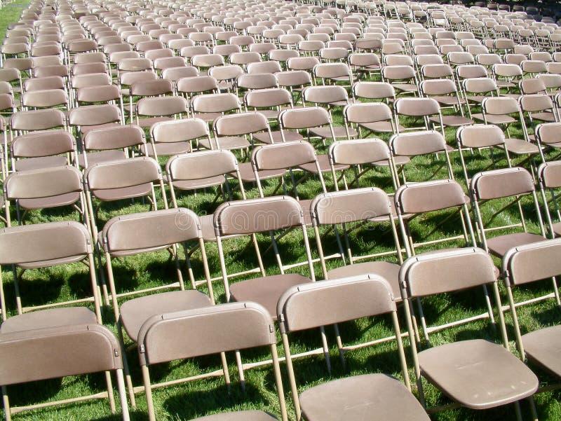 椅子行 免版税库存照片
