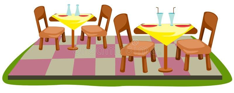 椅子表 库存例证