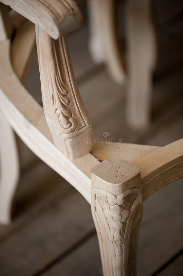 椅子装饰了木 库存照片