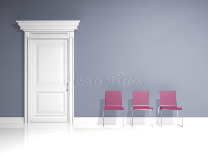 椅子设计内部红色 免版税库存照片