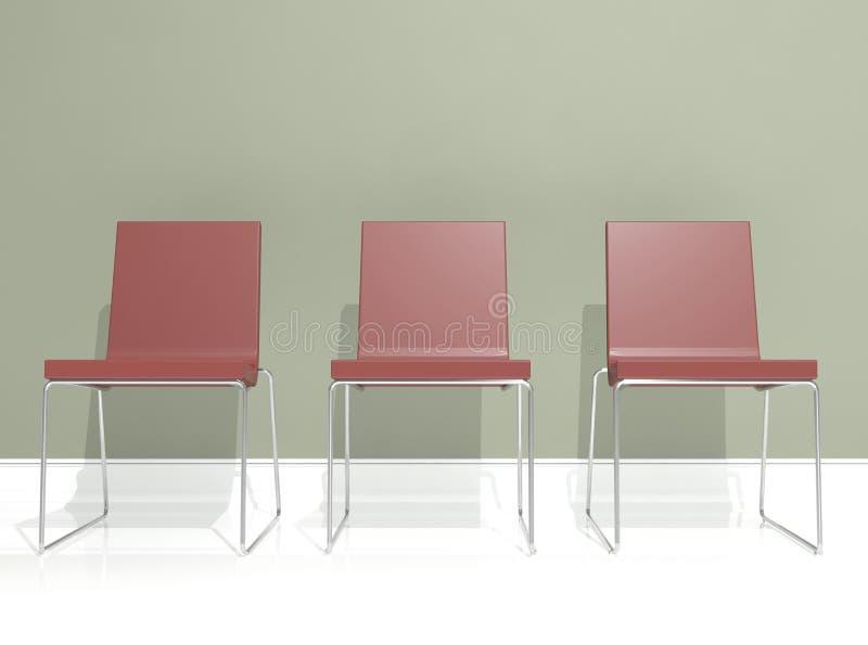 椅子设计内部红色 免版税图库摄影