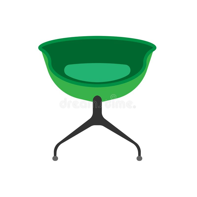 椅子餐馆正面图传染媒介象例证 设计家具扁杆内部元素 自助食堂剪影动画片 皇族释放例证