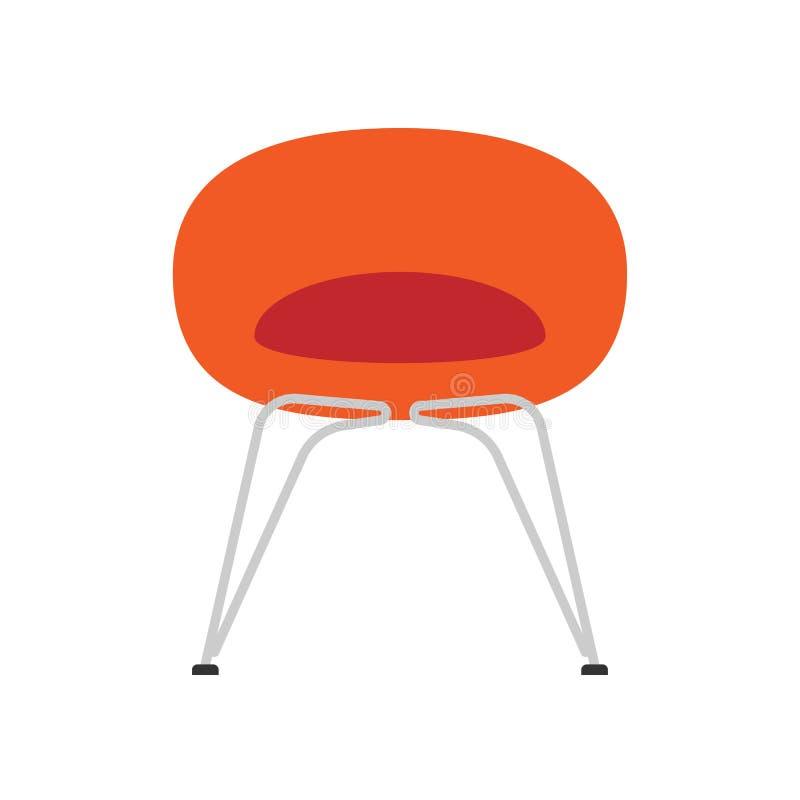椅子餐馆正面图传染媒介象例证 设计家具扁杆内部元素 自助食堂剪影动画片 库存例证