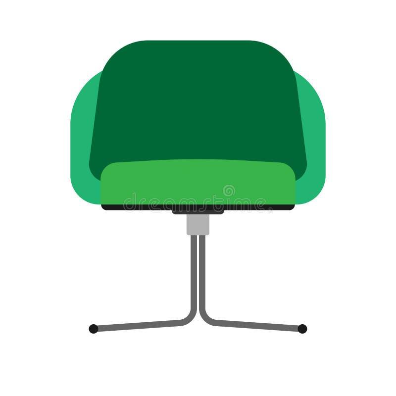 椅子餐馆正面图传染媒介象例证 设计家具扁杆内部元素 自助食堂剪影动画片 向量例证