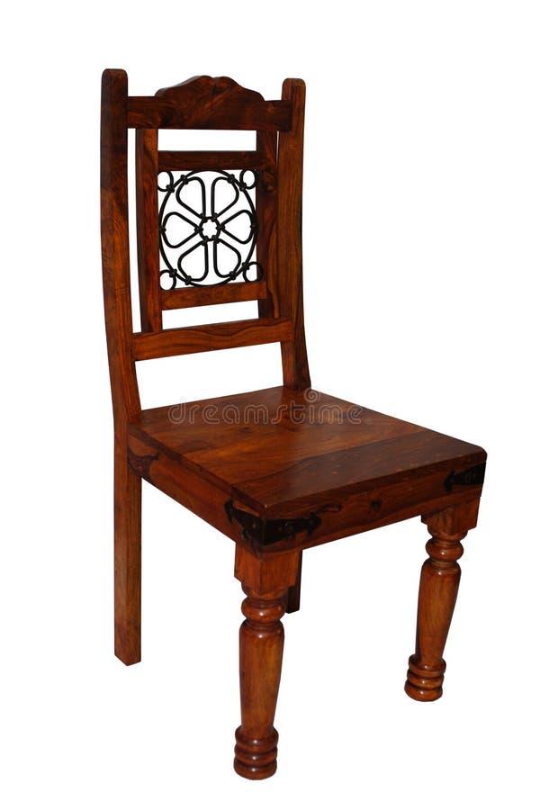 椅子黑暗木 免版税库存照片