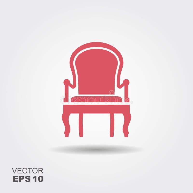 椅子 平的传染媒介象 向量例证