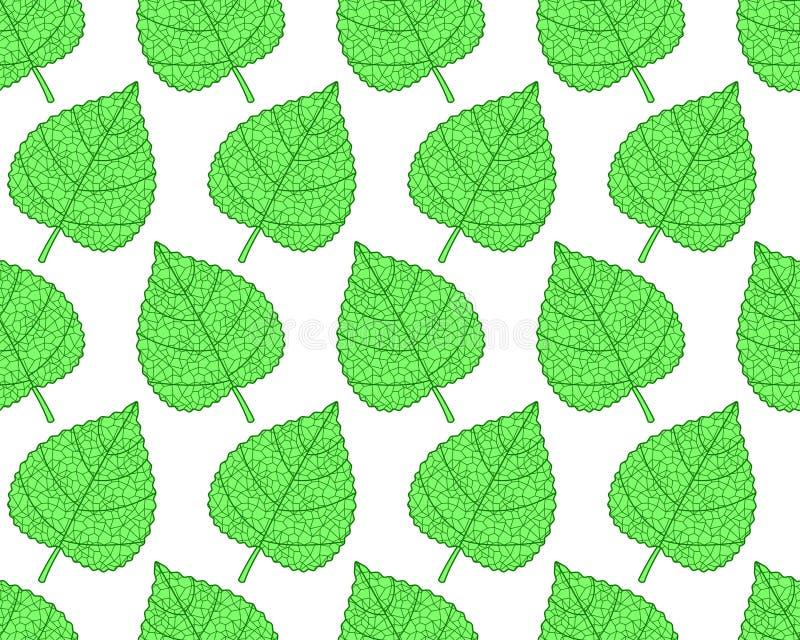 植物叶子样式 皇族释放例证